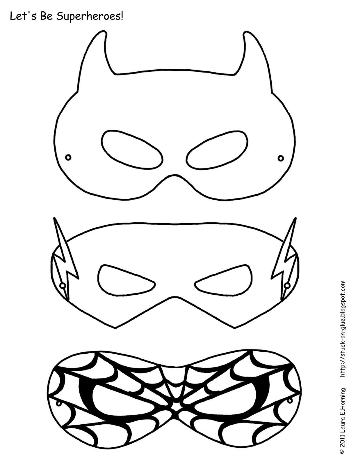 Mask Printable   Free Printable Superhero Mask Template   Masks - Free Printable Superhero Masks