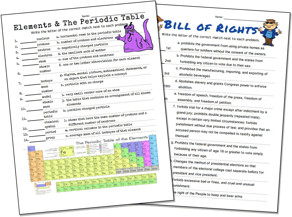 Match-Up Worksheet Maker - Free Printable Multiple Choice Spelling Test Maker