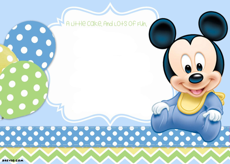 Mickey Mouse 1St Birthday   Tiago's Birthday   1St Birthday - Free Printable Baby Mickey Mouse Birthday Invitations