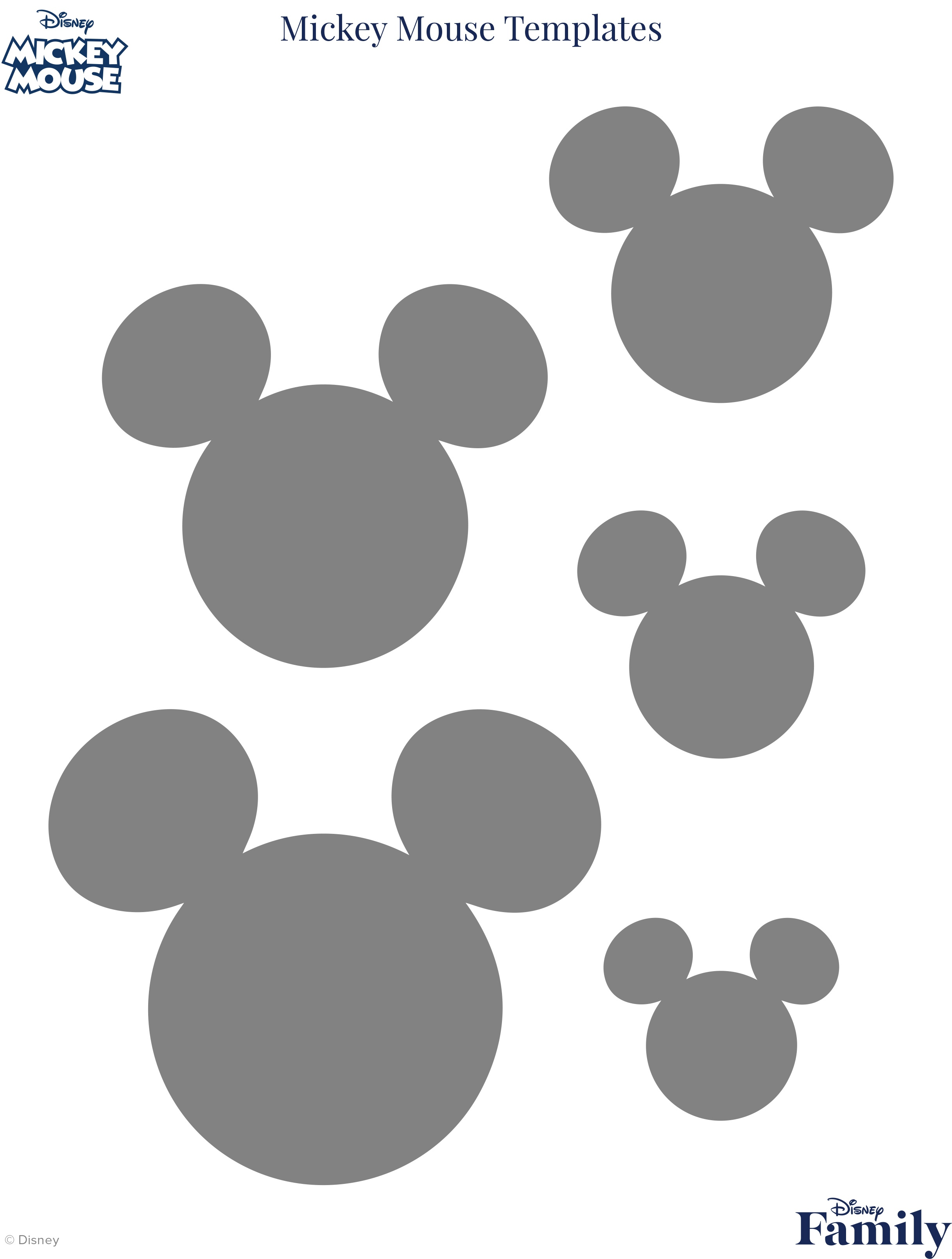 Mickey Mouse Template   Disney Family - Free Printable Disney Font Stencils