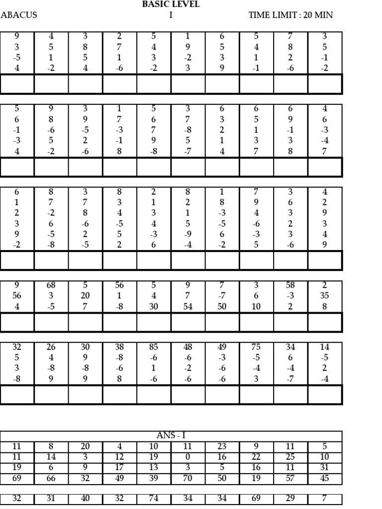 Model Paper | Educación Que Adoro | Abacus Math, Math Sheets, Math - Free Printable Abacus Worksheets