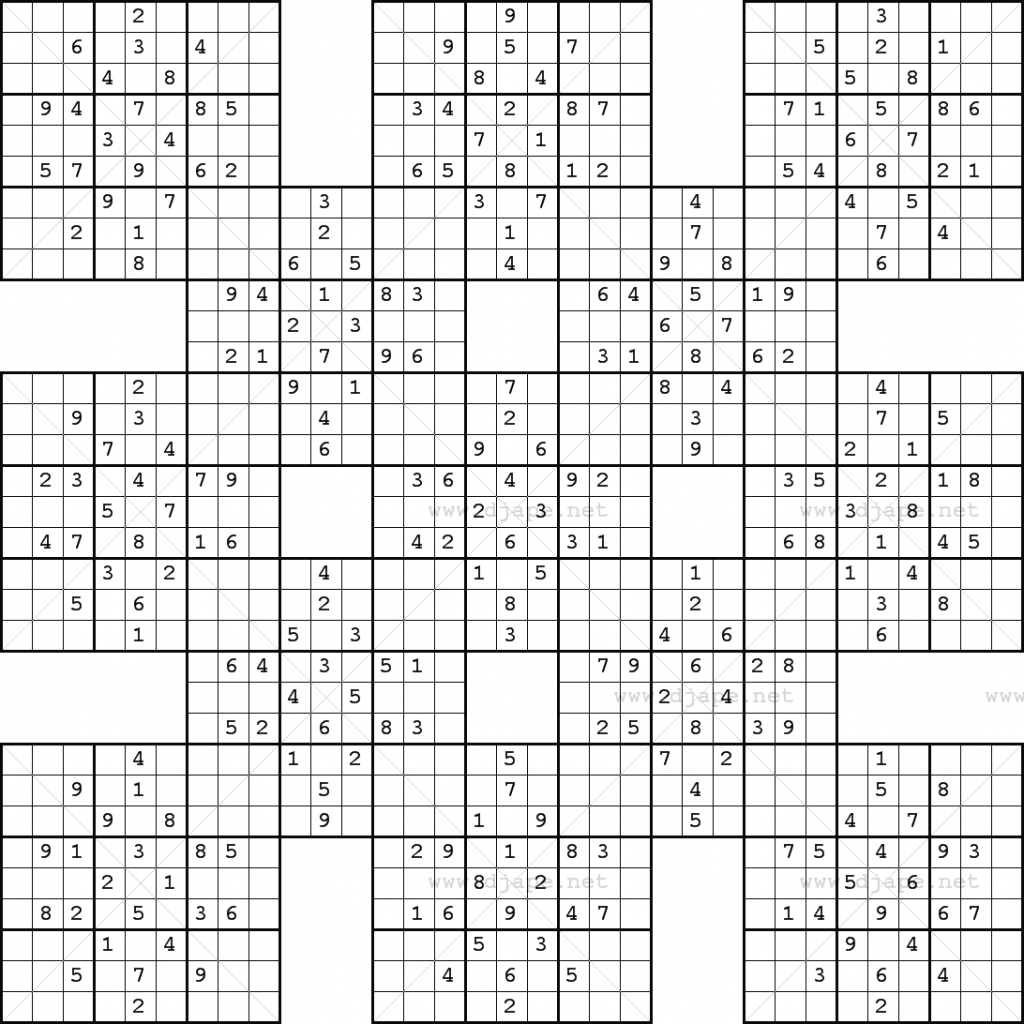 Monster Sudoku 16X16 Printable   Www.topsimages   Printable Monster - Free Printable Super Challenger Sudoku