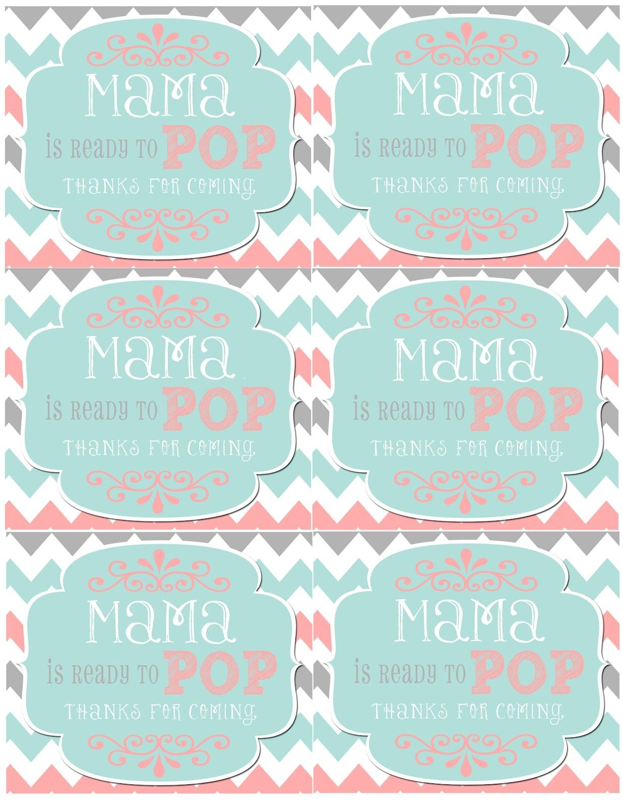 Mrs. This And That: Baby Shower, Banner, Free Downloads Yipee - Ready To Pop Free Printable
