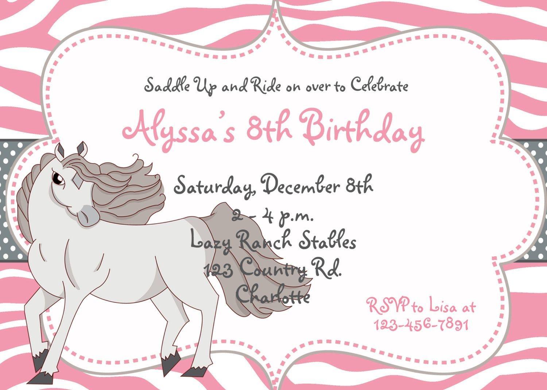 Nice Free Template Free Printable Horse Birthday Party Invitations - Free Printable Horse Themed Birthday Party Invitations