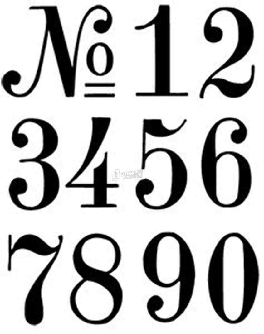 Number Stencils   Crafts   Number Stencils, Letter Stencils, Number - Free Printable Fancy Number Stencils