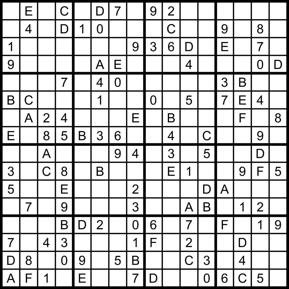 Numbers Super Challenger Sudoku Print   Www.topsimages - Free - Free Printable Super Challenger Sudoku
