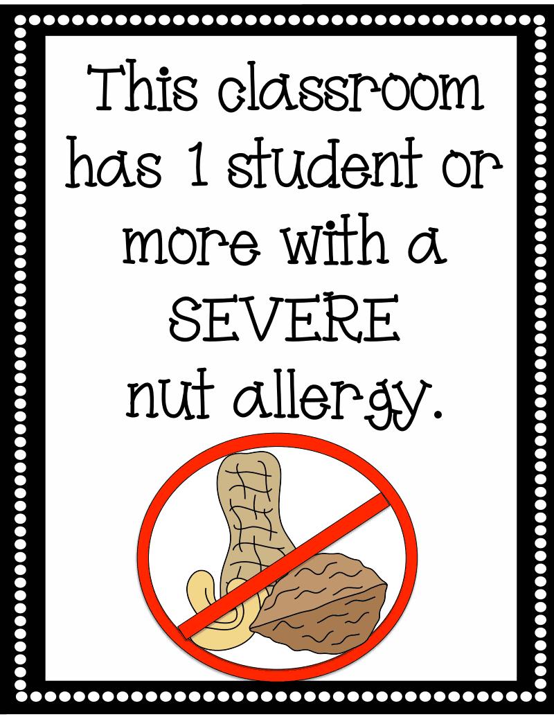 Nut Allergy Sign.pdf - Google Drive | Kindergartenklub | Peanut - Printable Peanut Free Classroom Signs