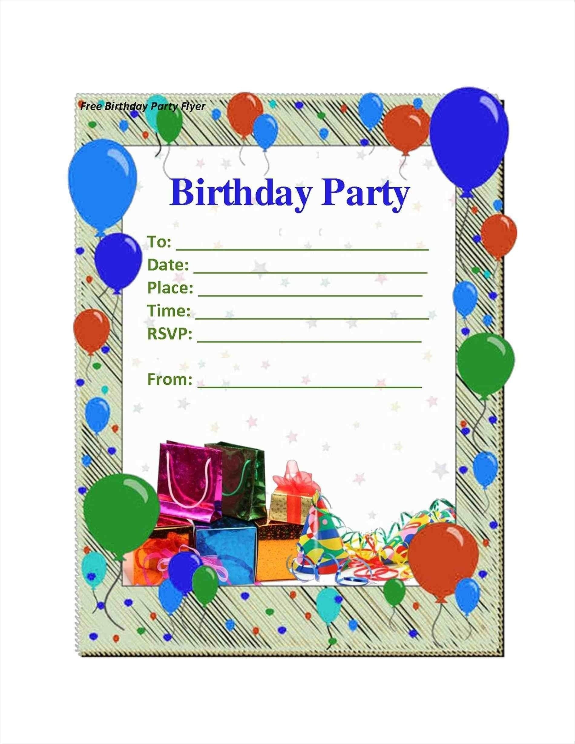 Party Invitation Ideas   Home Design In 2019   Free Birthday - Free Printable Birthday Party Flyers