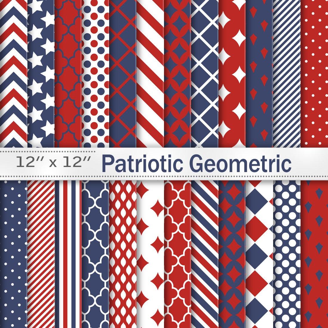 Patriotic 4Th Of July Digital Scrapbook Papers Red Navy   Etsy - Free Printable Patriotic Scrapbook Paper