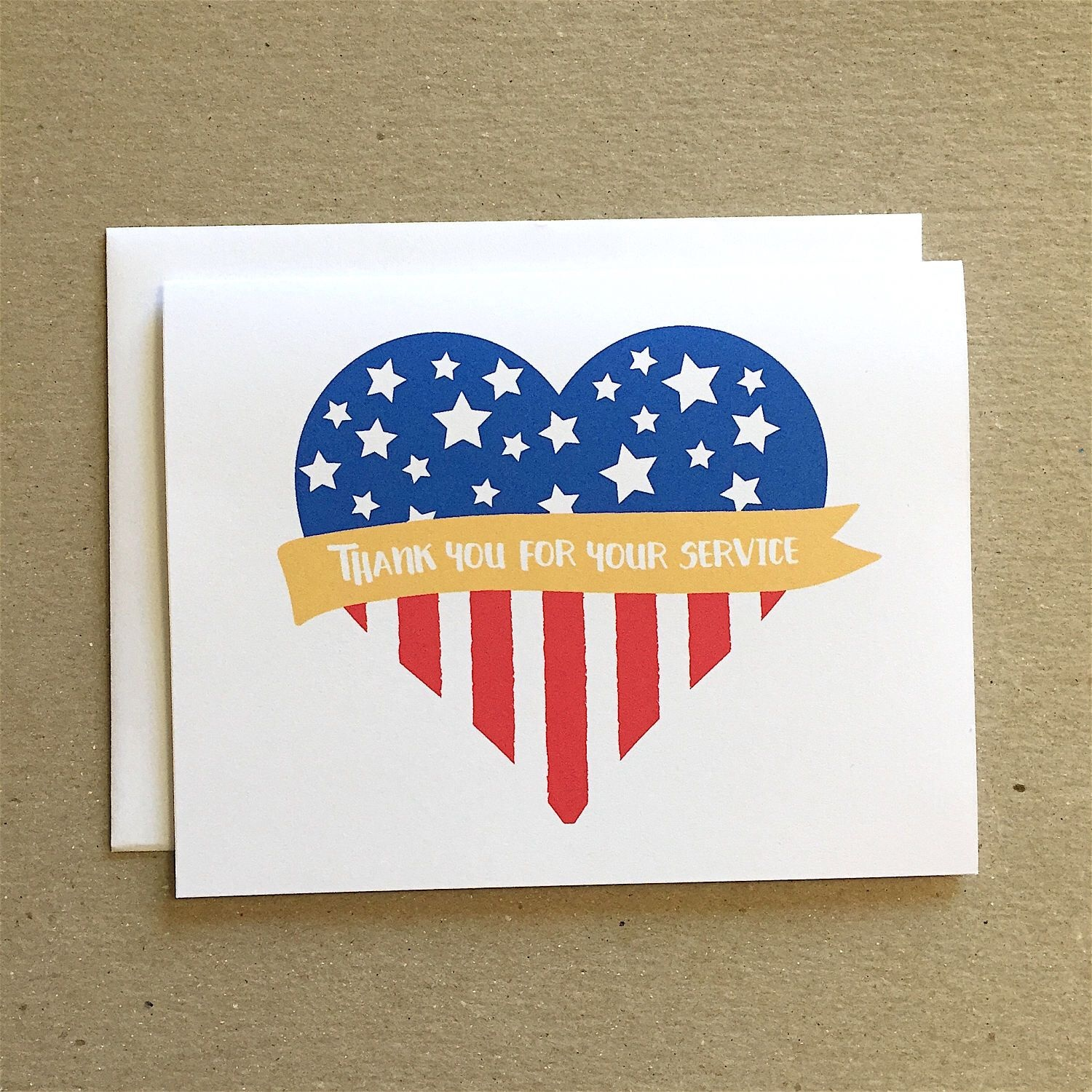 Patriotic Card, Thank You For Your Service, Veterans Day Cards - Military Thank You Cards Free Printable