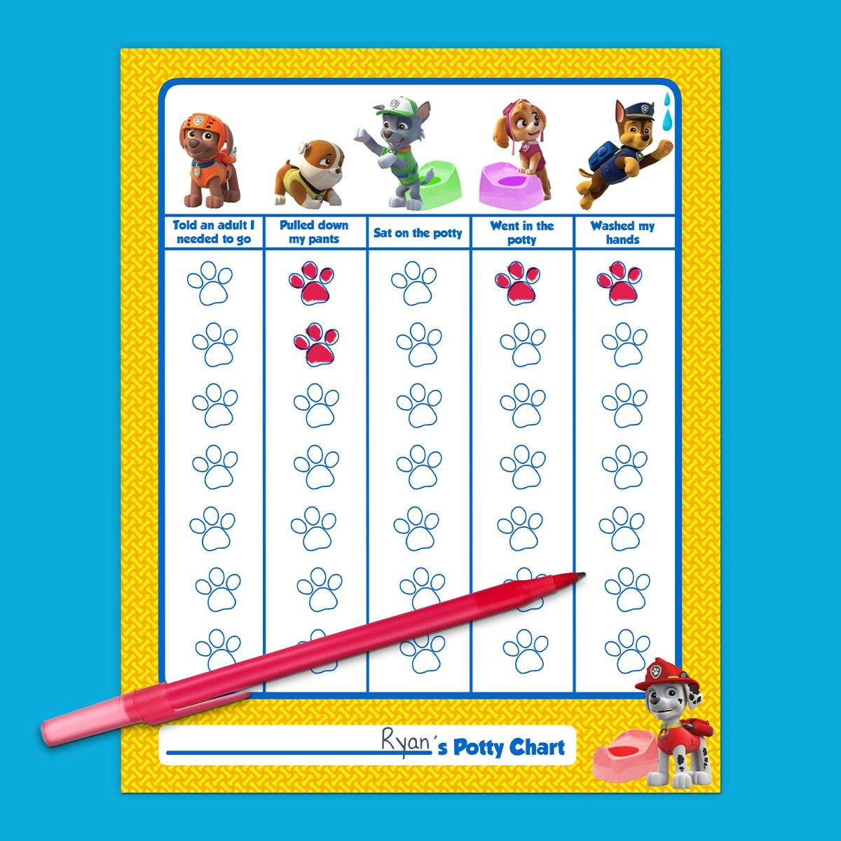 Paw Patrol Potty Training Chart | Nickelodeon Parents - Free Printable Potty Training Charts