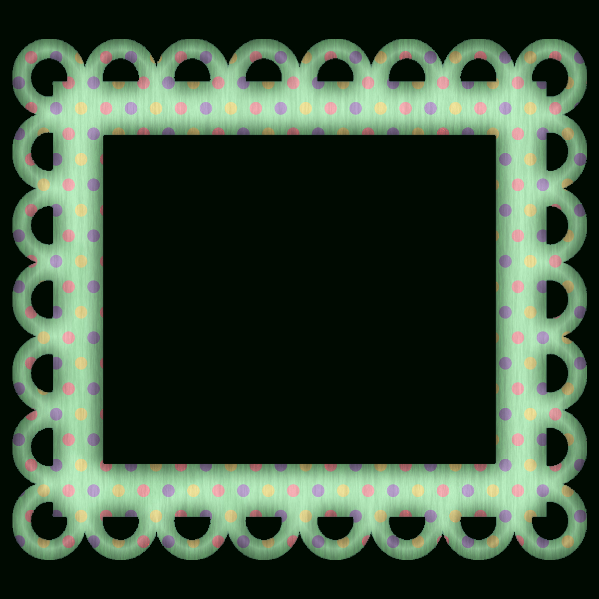 Picture Frames For Scrapbooking Free   Free Green Polka Digi - Free Printable Frames For Scrapbooking