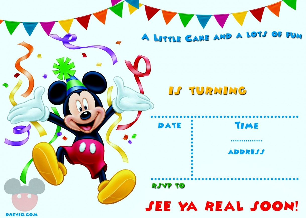 Pictures Baby Mickey Mouse 1St Birthday Invitations Free Printable - Free Printable Baby Mickey Mouse Birthday Invitations