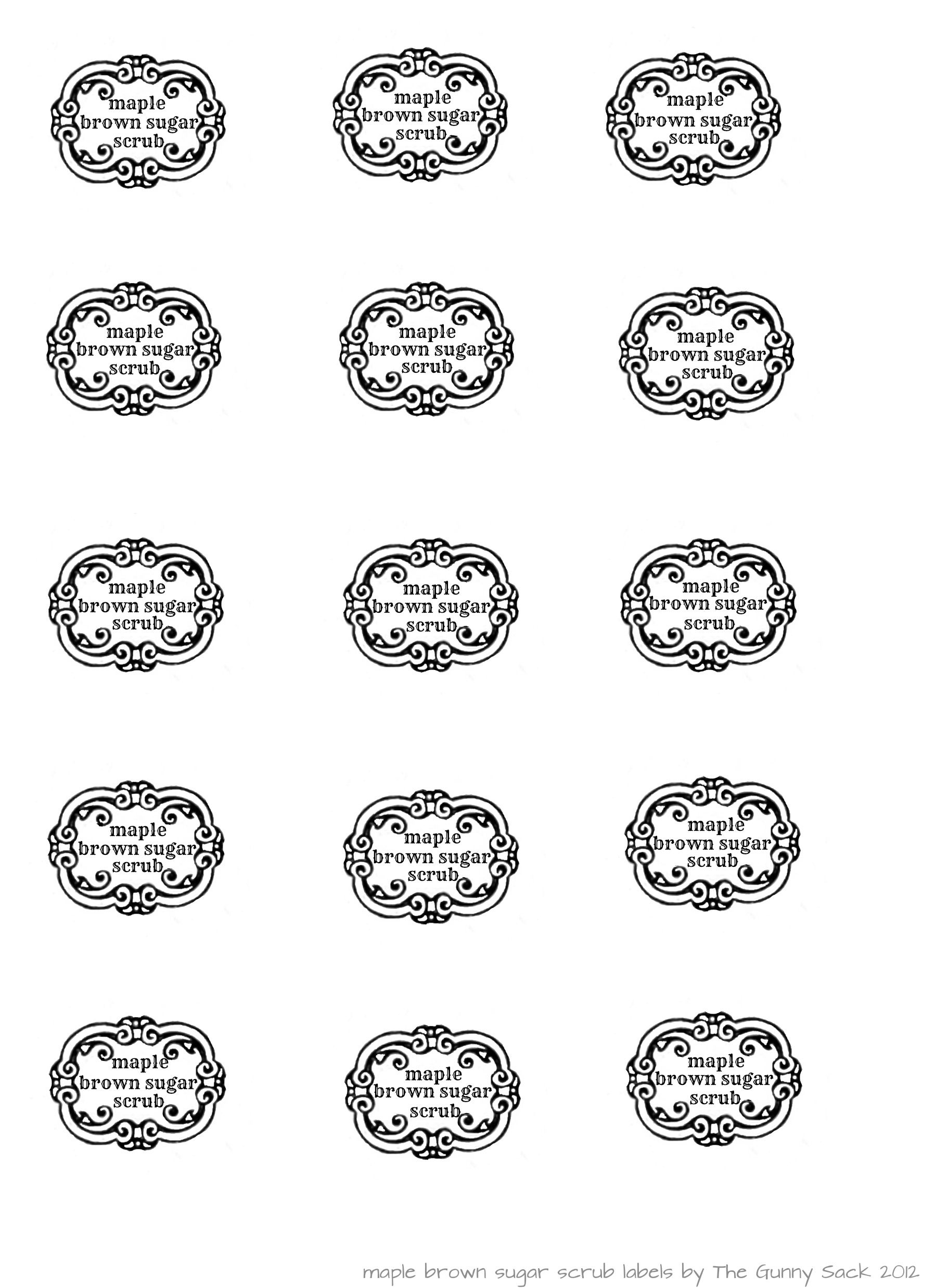 Pin On Printables - Spa In A Jar Free Printable Labels