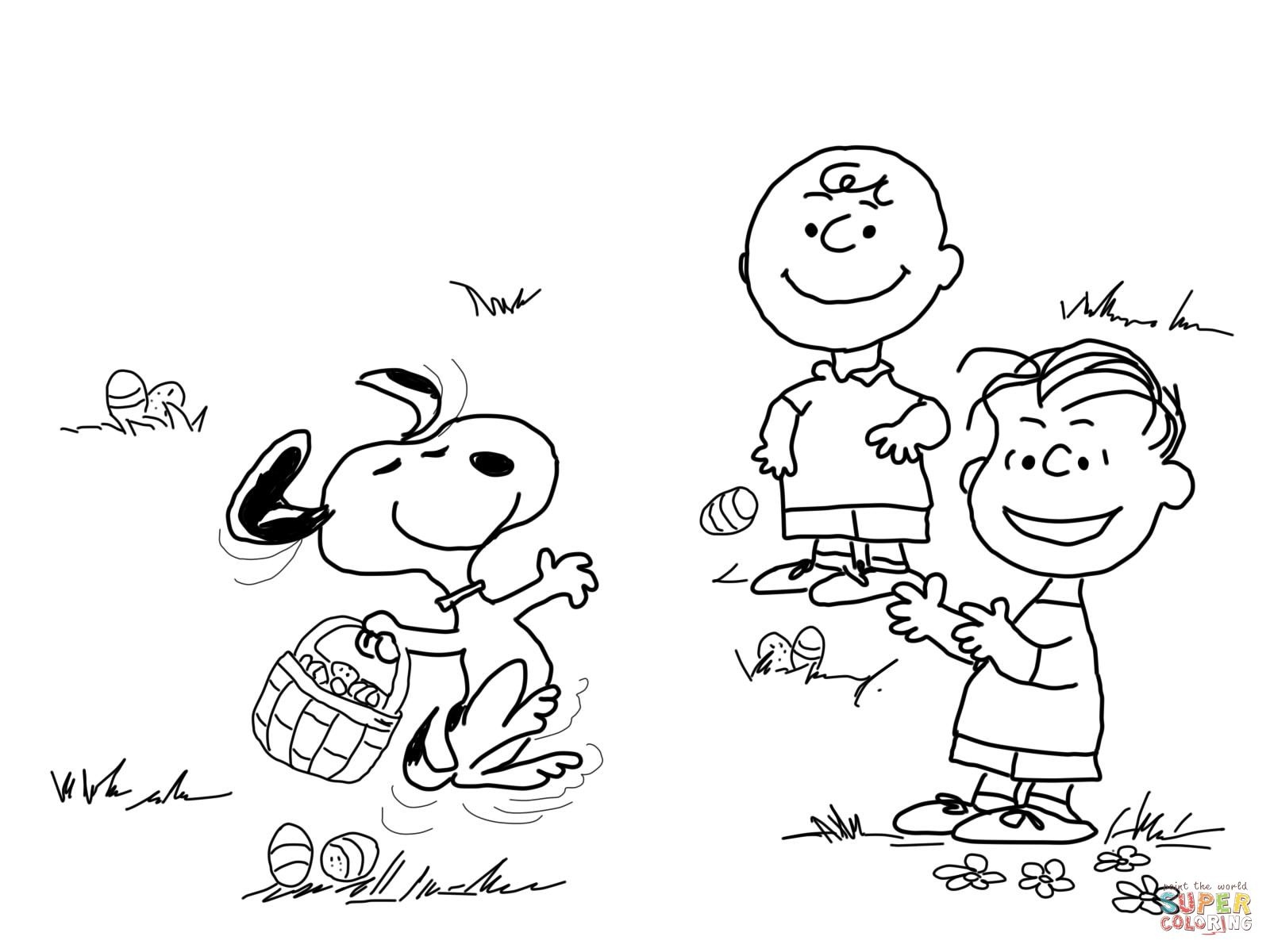 Pinaaron Mickelburough On Aaron   Easter Coloring Pages - Free Printable Charlie Brown Halloween Coloring Pages