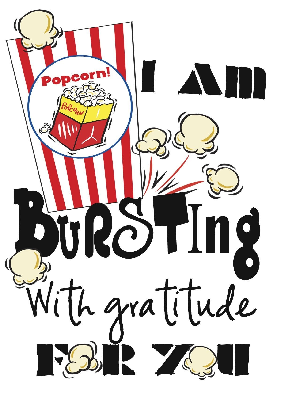 Pinamy Knight On Craft Ideas | Volunteer Appreciation Gifts - Free Popcorn Teacher Appreciation Printable