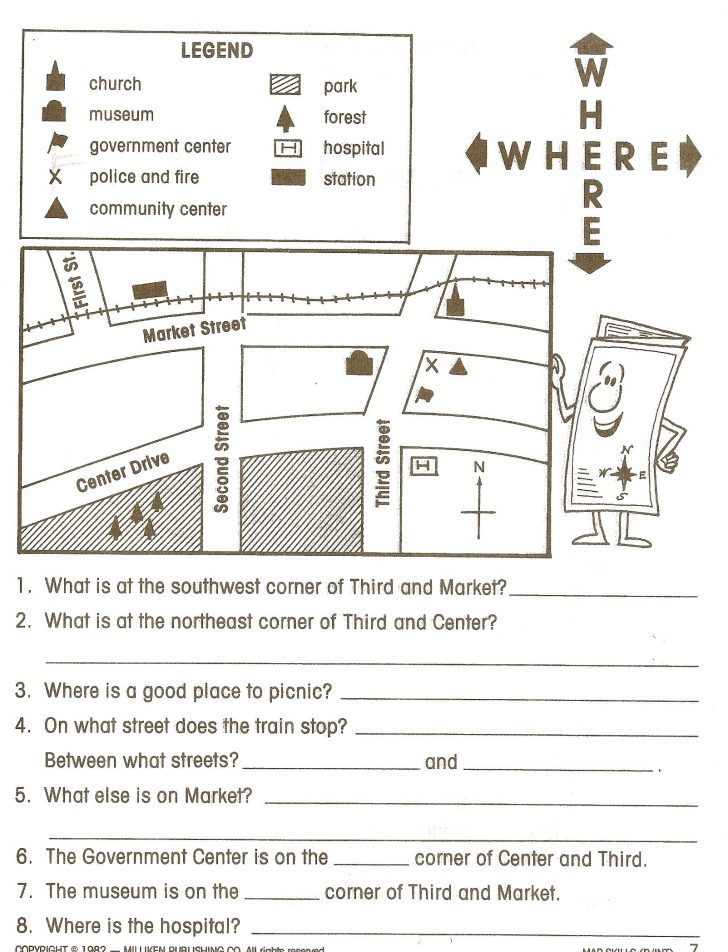 Social Studies Worksheets First Grade Free Printable