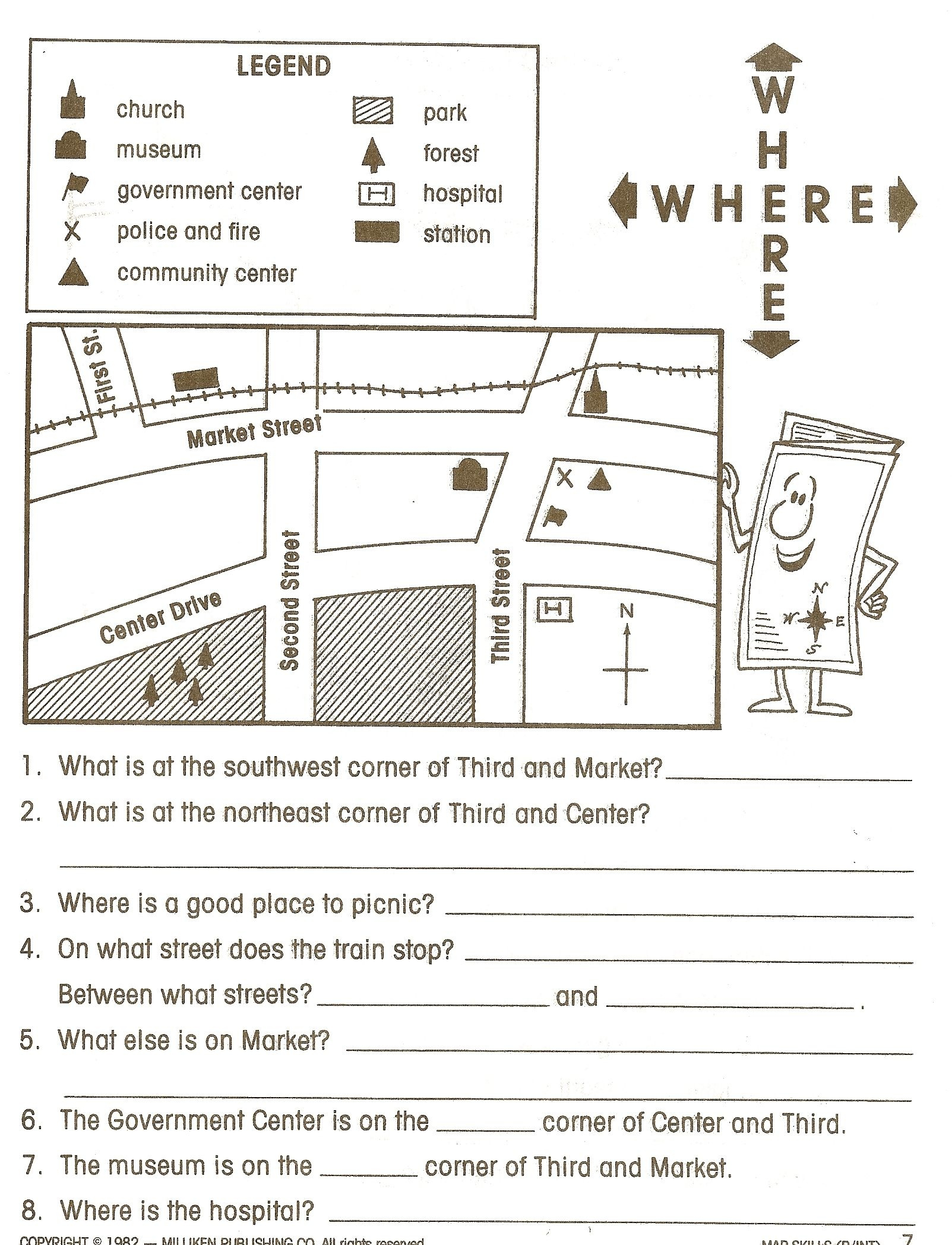 Pincaissey Adams On Directions   Map Worksheets, Social Studies - Social Studies Worksheets First Grade Free Printable
