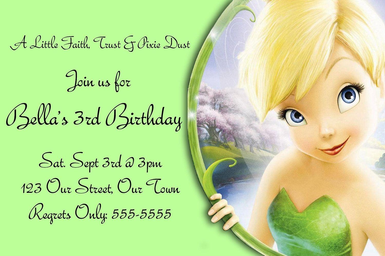 Pindrevio On Free Printable Birthday Invitation In 2019 - Free Tinkerbell Printable Birthday Invitations
