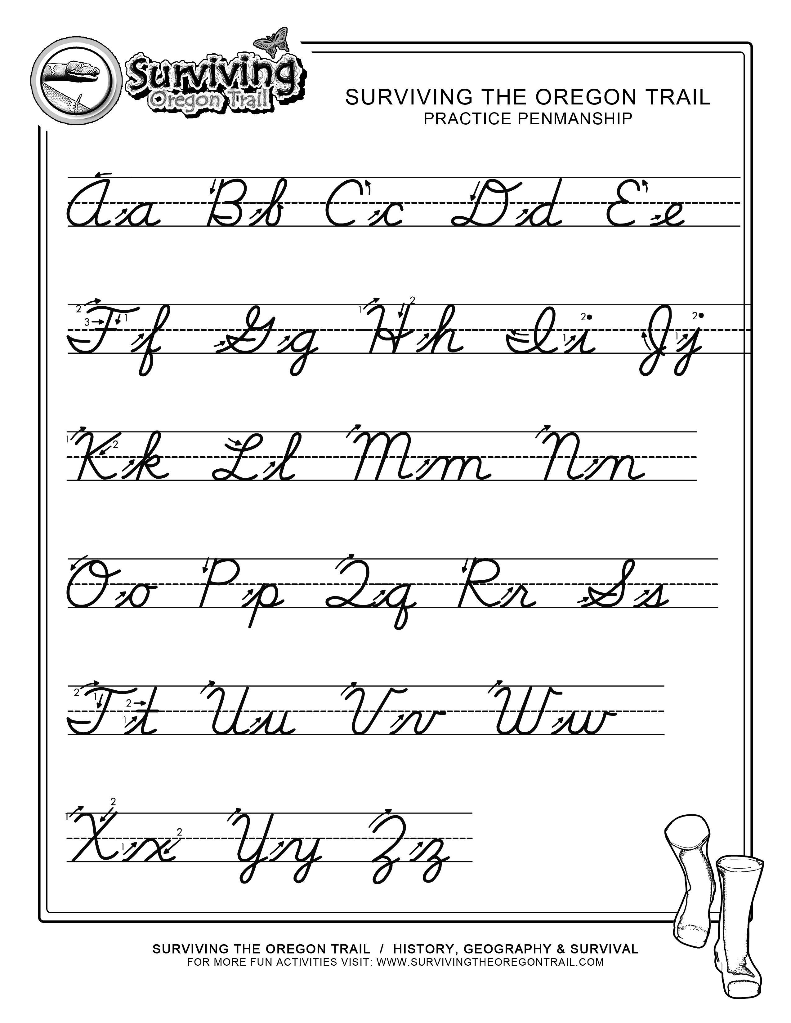 Pinjessica From Honeysuckle & Vine On Homeschool | Cursive - Free Printable Script Writing Worksheets
