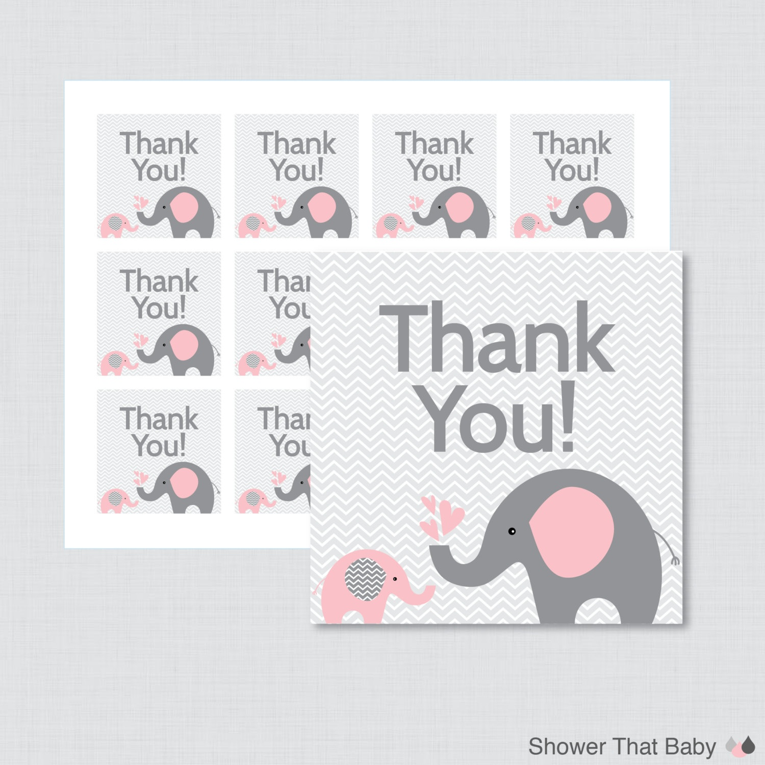 Pink Elephant Baby Shower Free Printables (82+ Images In Collection - Free Printable Elephant Baby Shower