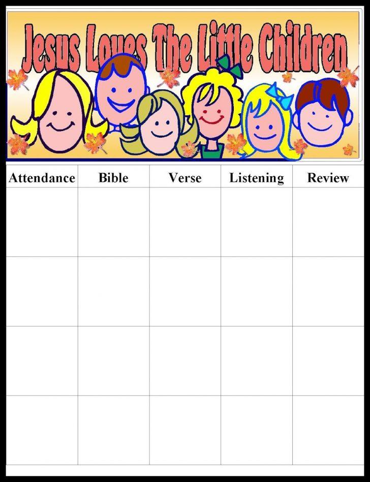 Free Printable Sunday School Attendance Sheet