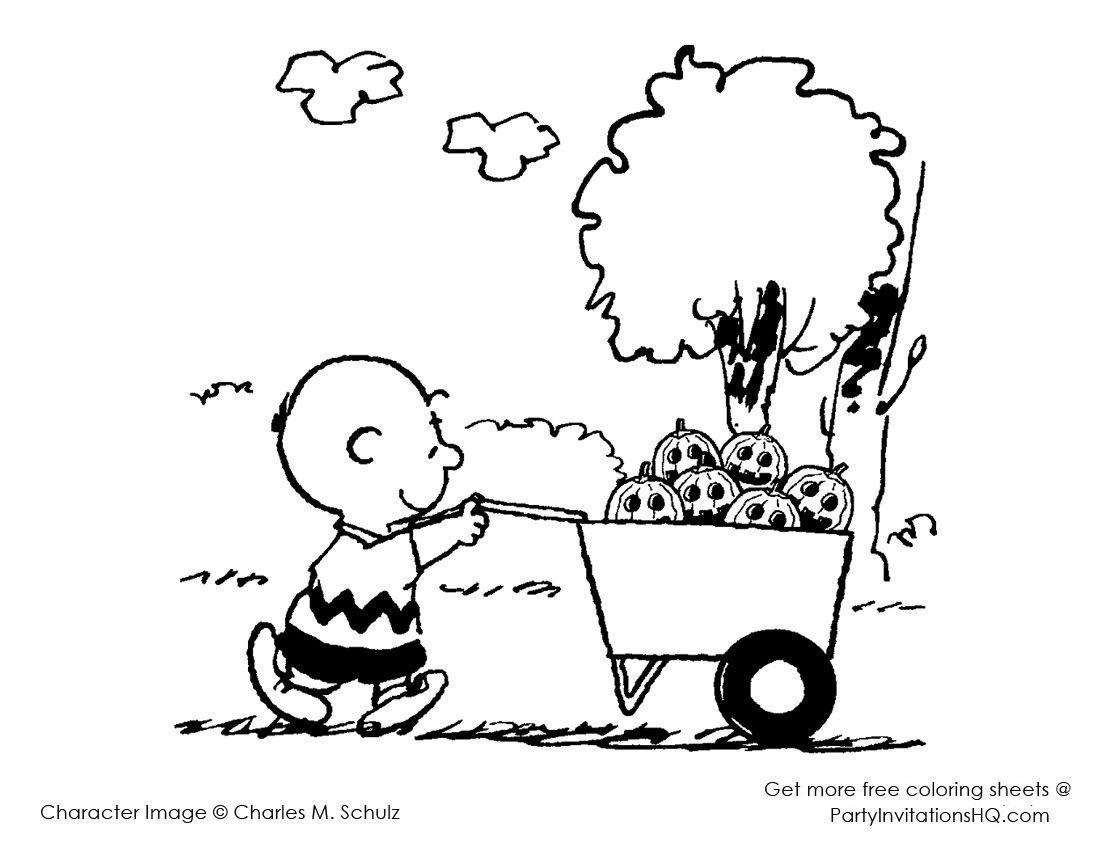 Pinmegan Walker On Teaching Things & Funnies   Thanksgiving - Free Printable Charlie Brown Halloween Coloring Pages