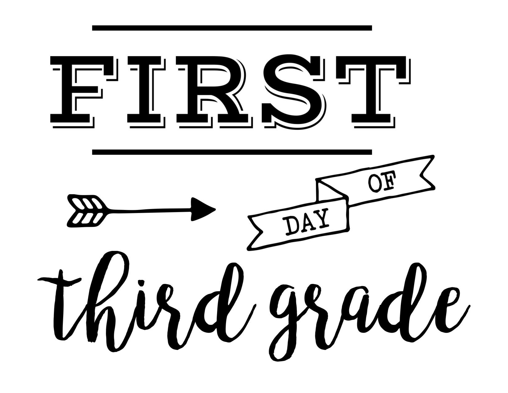 Pinmichelle Fuller On Kid Ideas   Last Day Of School, School - First Day Of Fourth Grade Free Printable