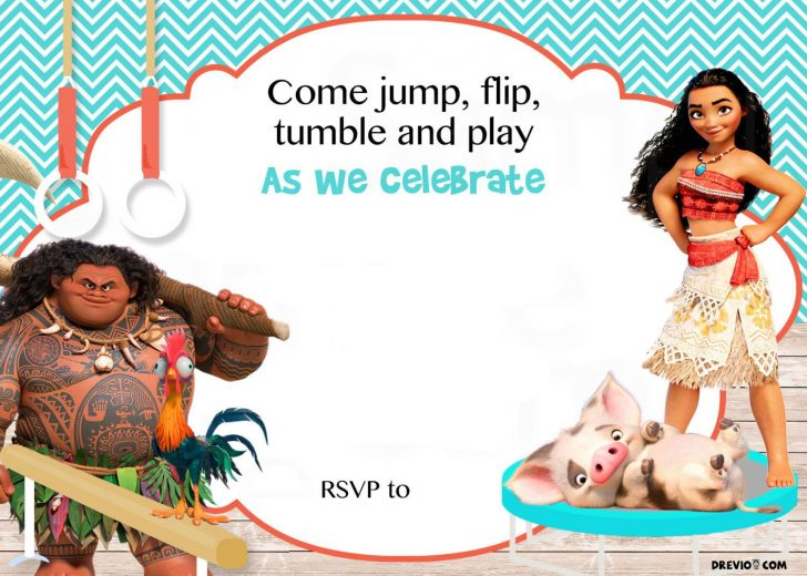 Free Printable Moana Birthday Invitations