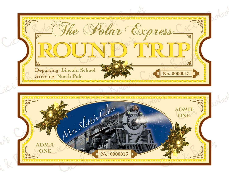 Polar Express Ticket Template Printable   Polar Express   Polar - Free Polar Express Printable Tickets