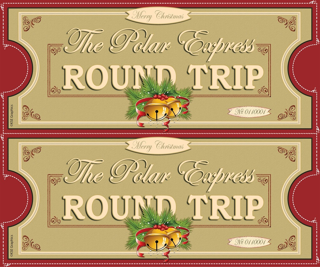 Polar Express Tickets Front 2Up Red   Free Printable Polar E…   Flickr - Free Polar Express Printable Tickets