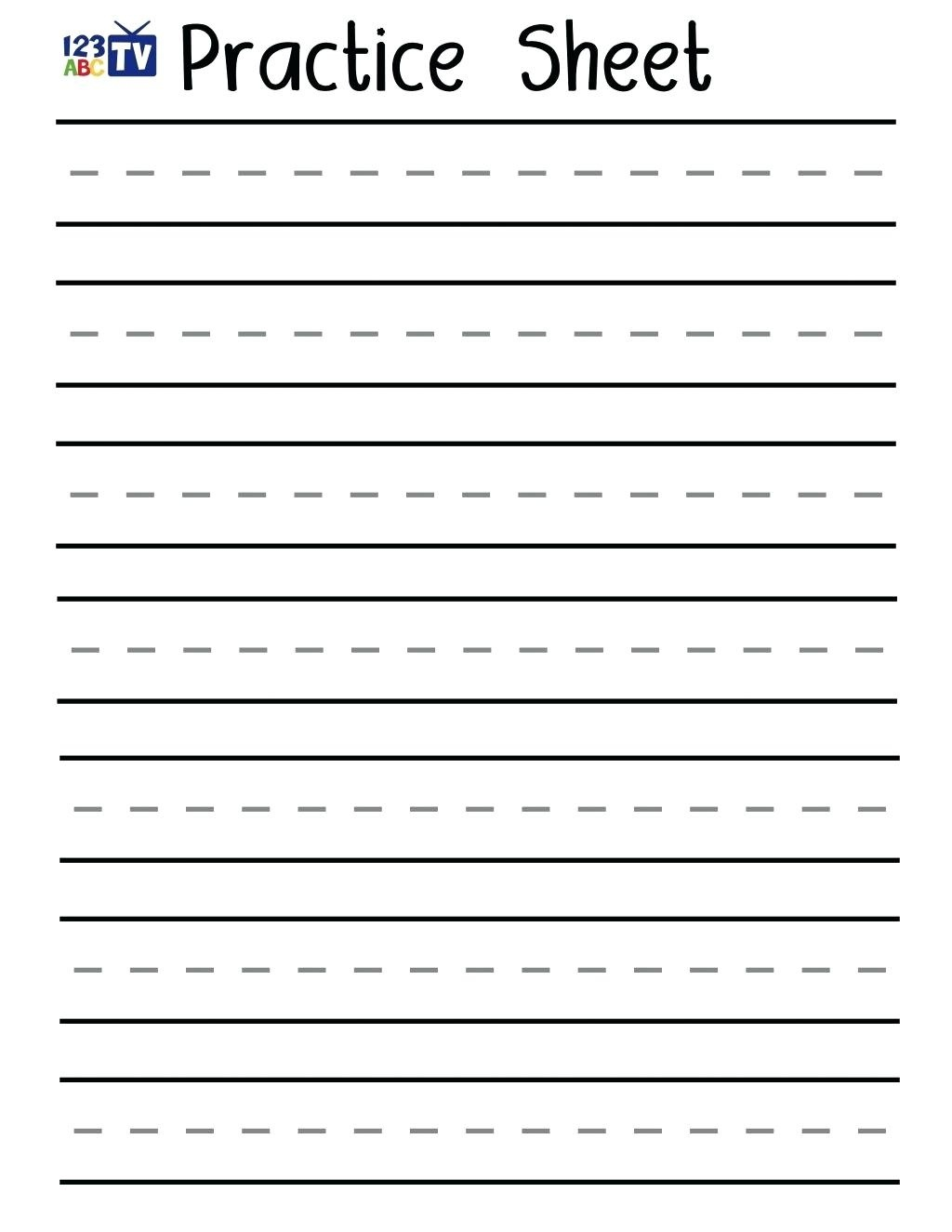 Practice Writing Sheets – Shoppingforu.club - Free Printable Handwriting Worksheets
