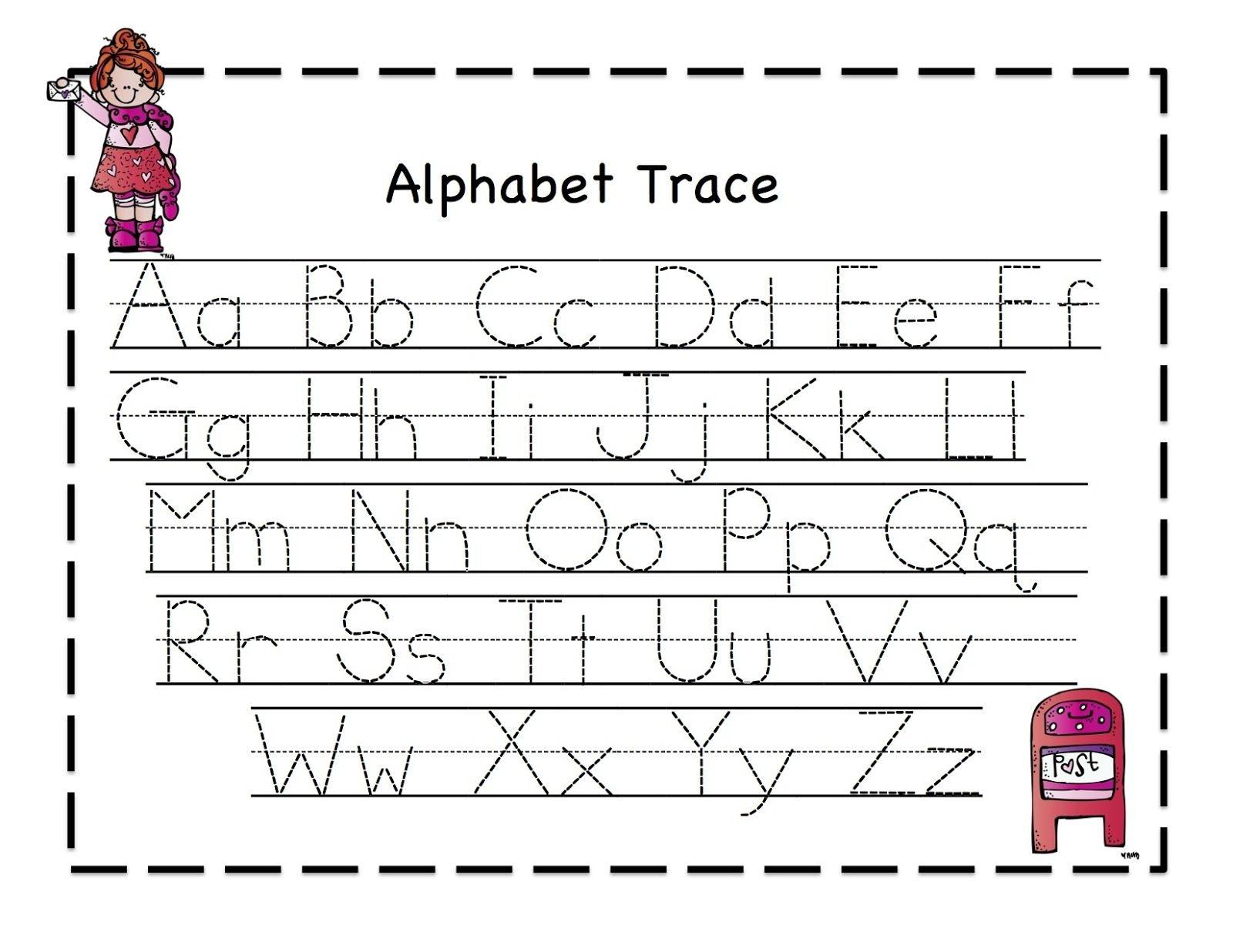 Preschool Printables: Valentine   February Ideas   Alphabet Tracing - Free Printable Preschool Worksheets Tracing Letters