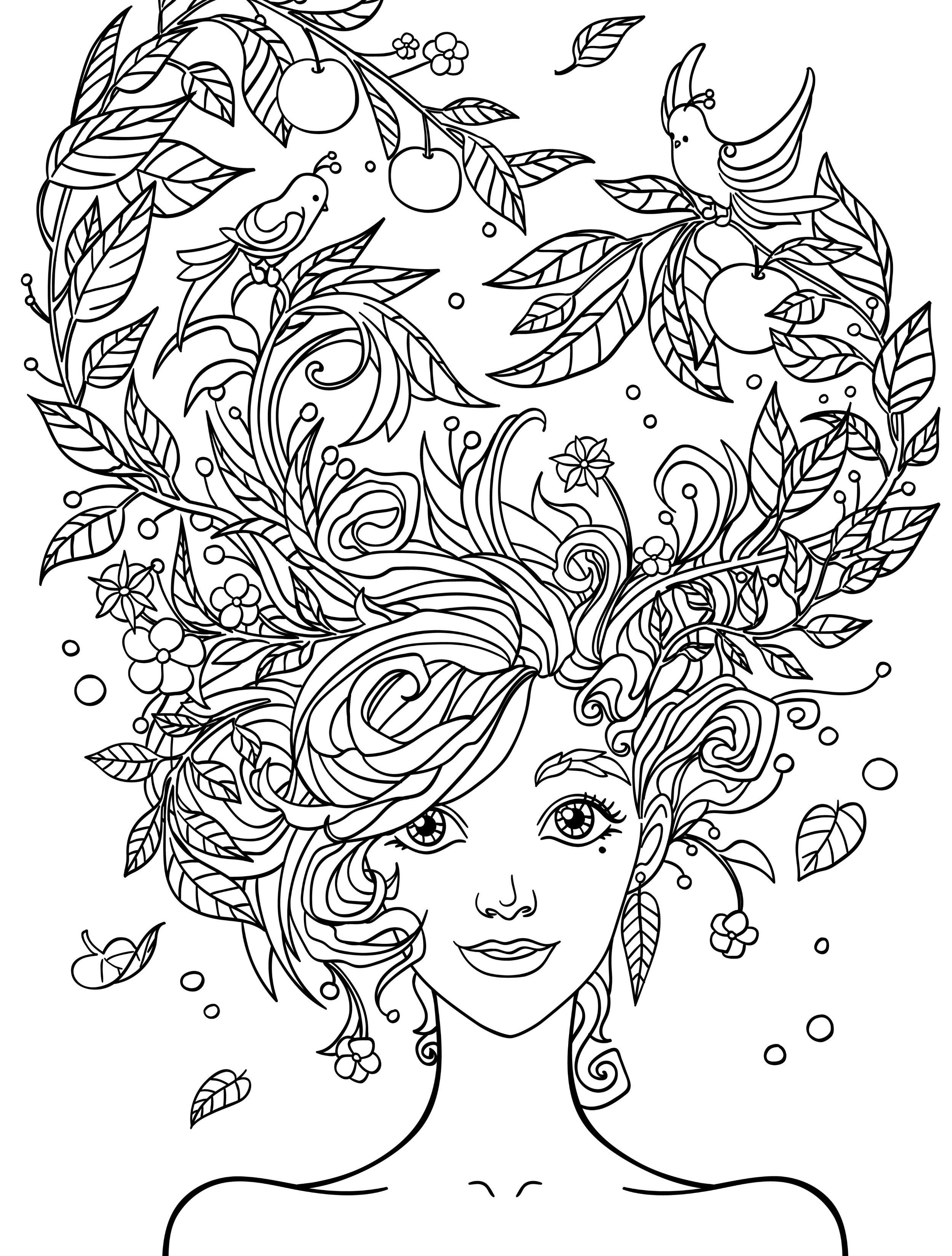 Pretty Coloring Pages For Adults Free Printable | People Coloring - Free Printable Coloring Book Pages For Adults