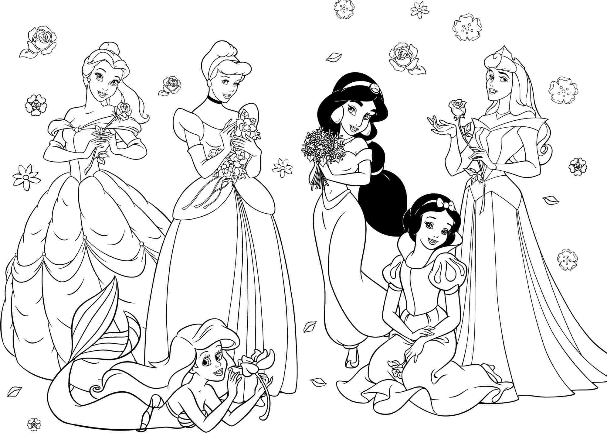 Princess Coloring Pages For Girls - Free Large Images   Crafting - Free Printable Princess Coloring Pages