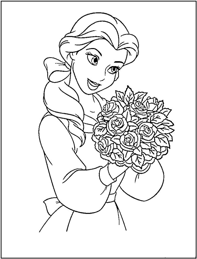 Princess Coloring Pages Printable   Disney Princess Coloring Pages - Free Printable Princess Coloring Pages