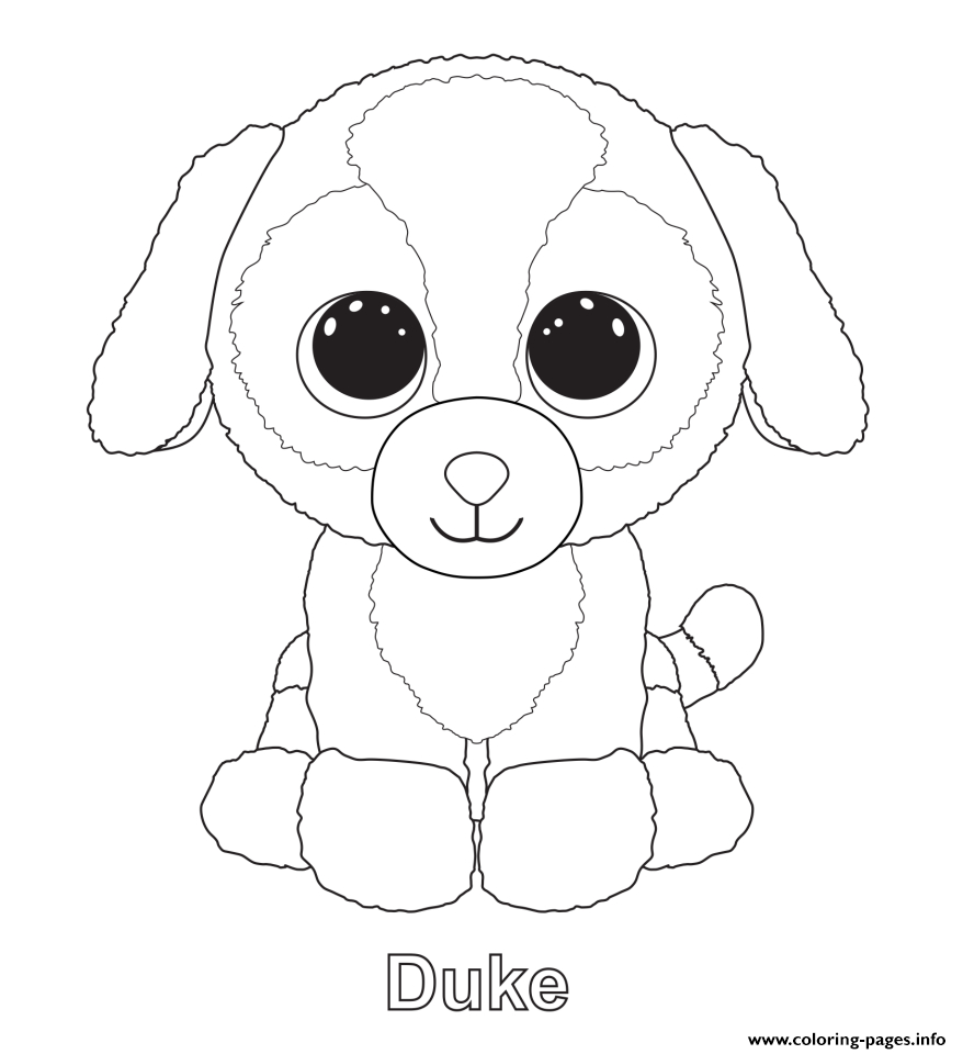 Print Duke Beanie Boo Coloring Pages … | Birthdays | Beani… - Free Printable Beanie Boo Coloring Pages