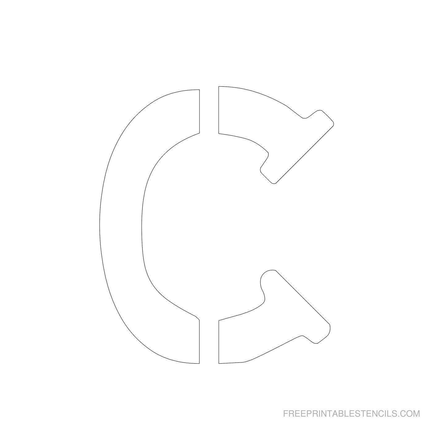Printable 4 Inch Letter Stencils | Lettering | Letter Stencils To - Free Printable 4 Inch Number Stencils