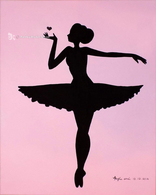 Printable (Ballerina Silhouette Pink)Artbykylieshai On Etsy   My - Free Printable Ballerina Silhouette