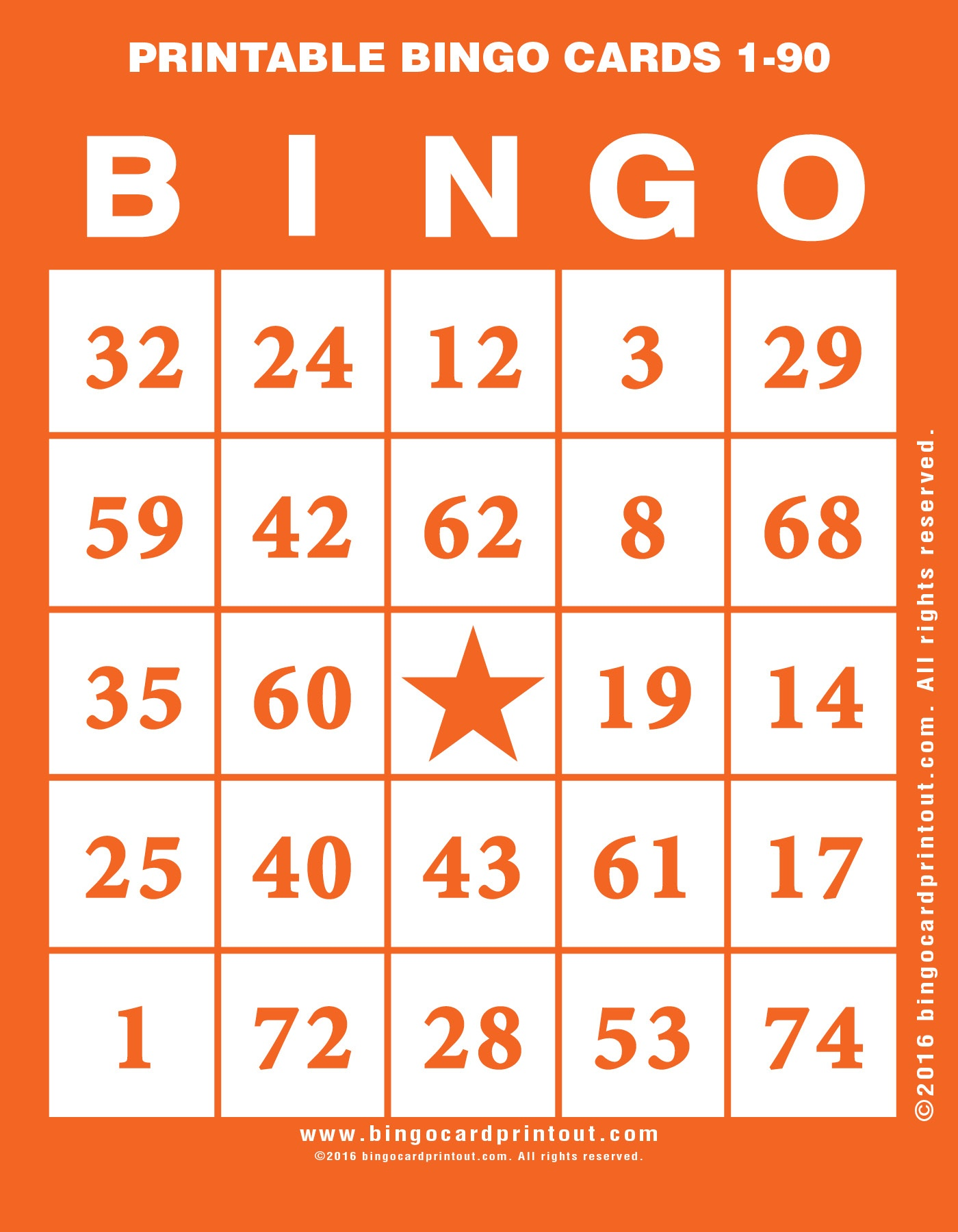 Printable Bingo Cards 1-90 - Bingocardprintout - Free Printable Number Bingo Cards 1 20