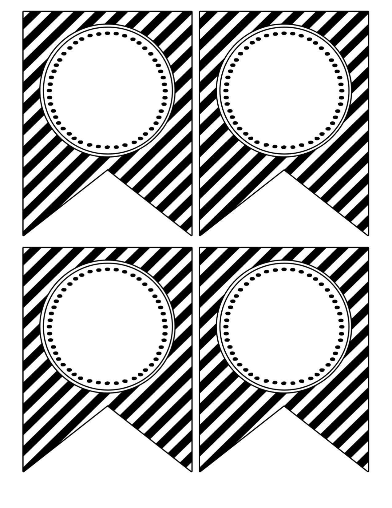 Printable Birthday Banner Template Black And White | Theveliger - Birthday Banner Templates Free Printable
