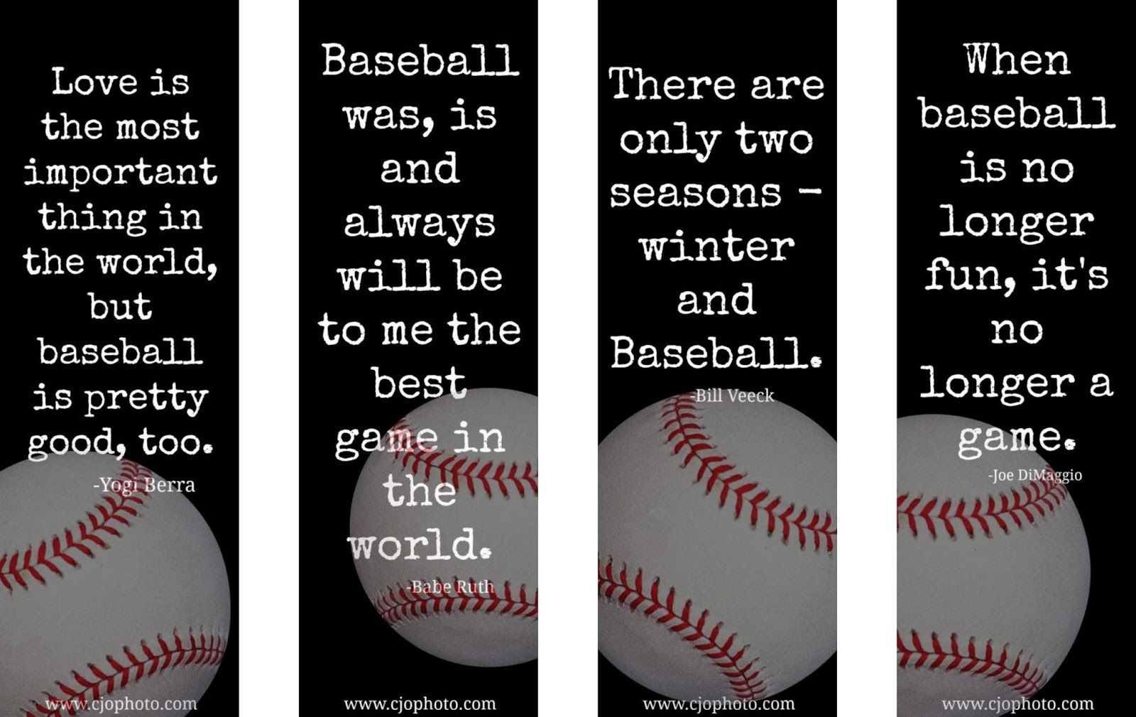Printable Bookmarks: Baseball Quotes   Bookmarks For Ya   Baseball - Free Printable Sports Bookmarks