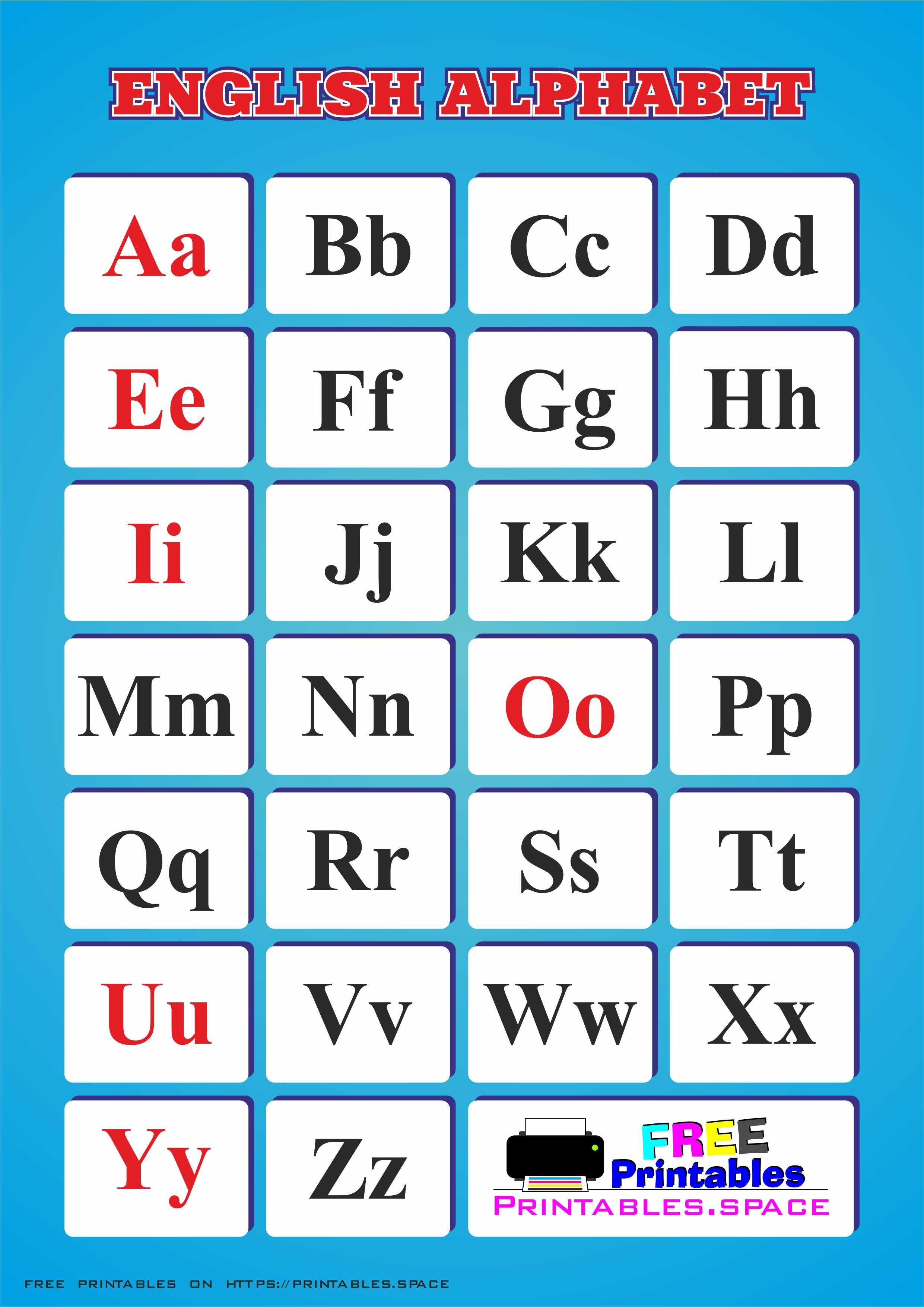 Printable English Alphabet - Free Download - Free Printables - Printable Alphabet Letters Free Download