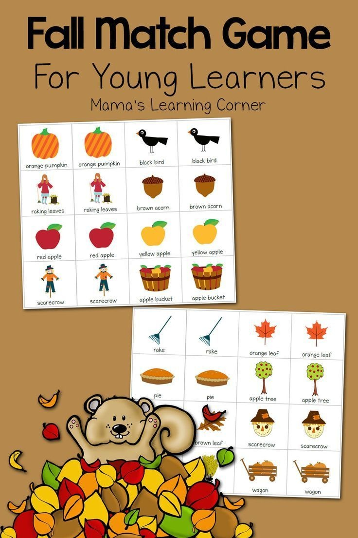 Printable Fall Match Game   Fall Crafts And Activities For Kids - Free Printable Toddler Matching Games
