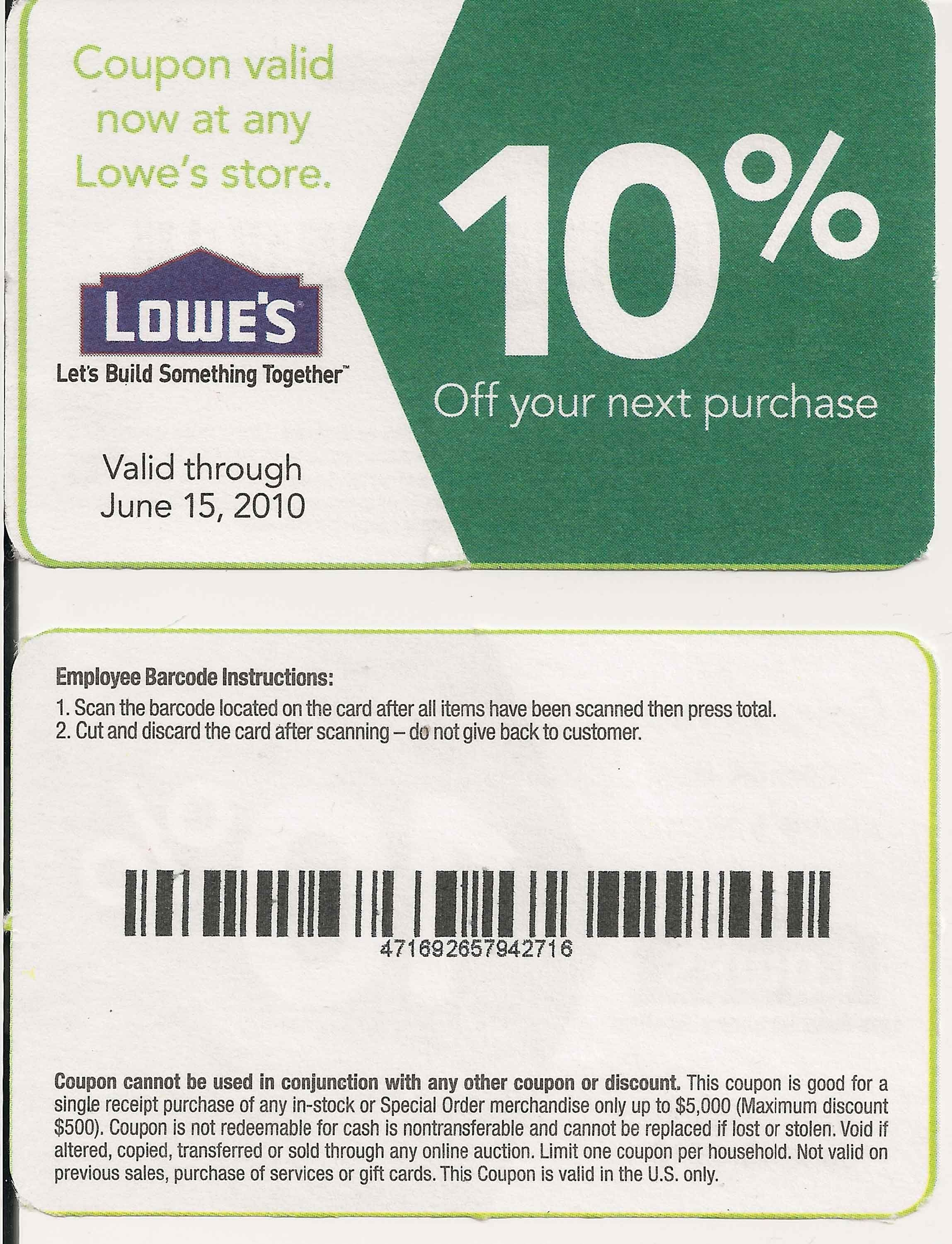 Printable Lowes Coupon 20% Off &10 Off Codes December 2016 | Stuff - Free Printable Lowes Coupons