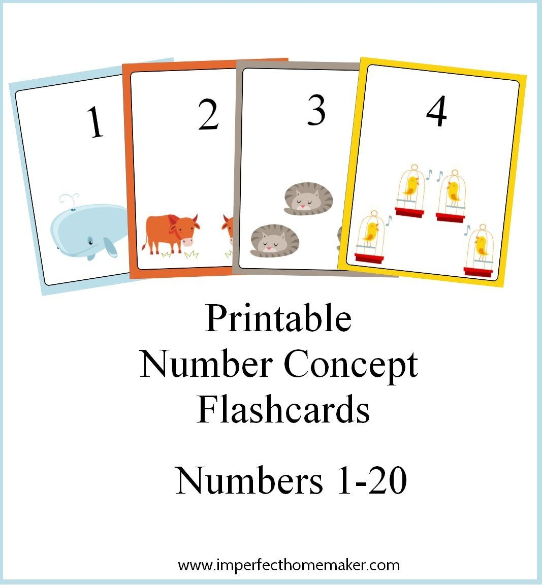 Printable Number Concept Flashcards | Free Number Printables For - Free Printable Number Flashcards 1 30