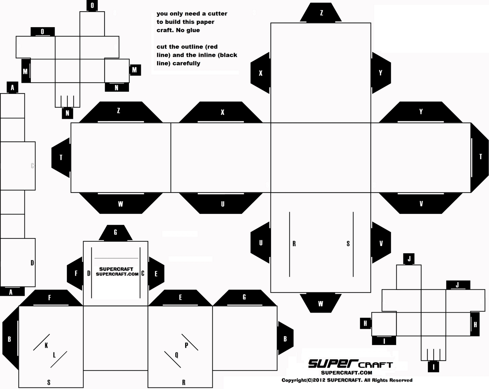 Printable Paper Crafts Templates Black And White   Chart And - Printable Paper Crafts Free