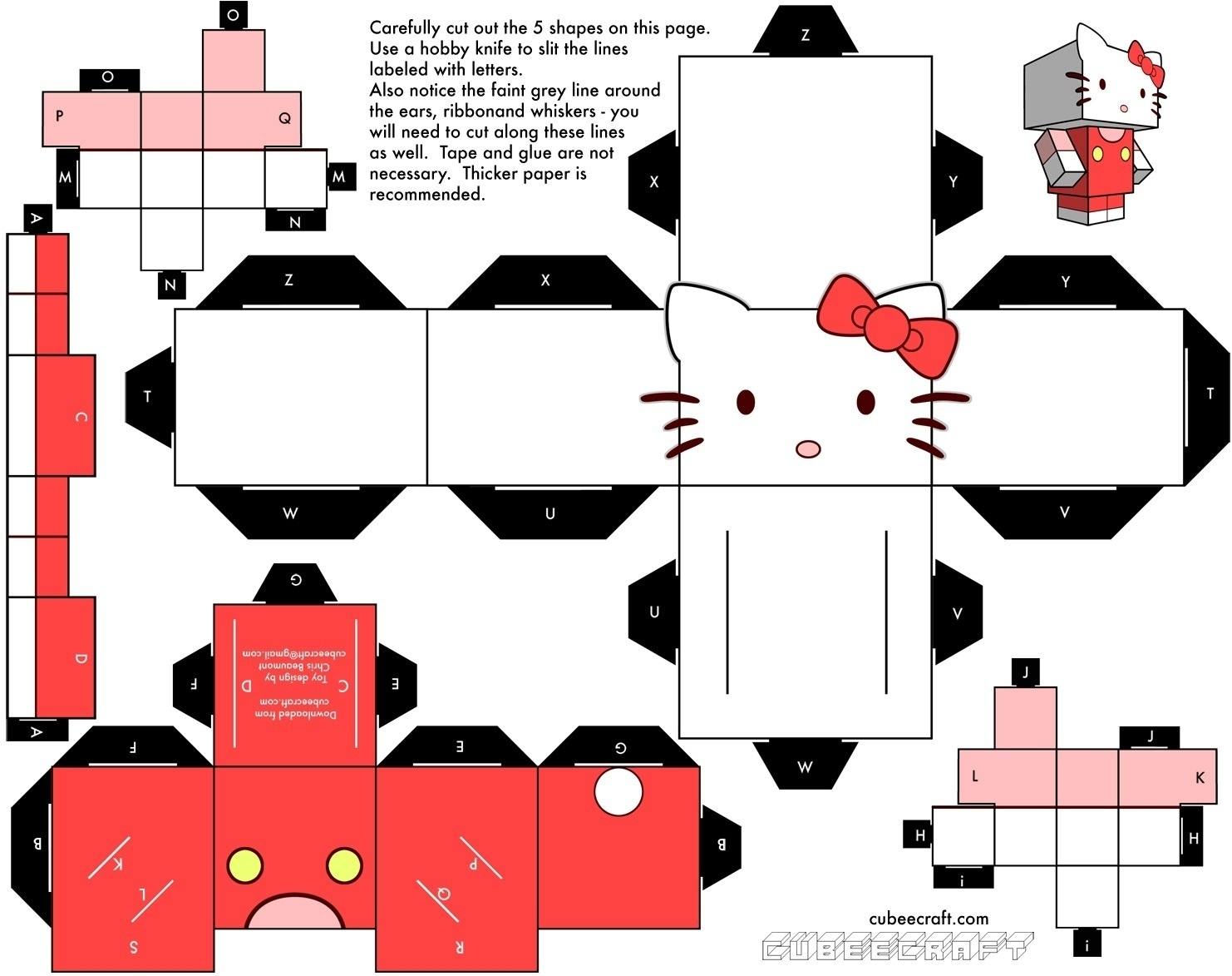 Printable Paper Crafts Templates   Chart And Printable World - Printable Paper Crafts Free
