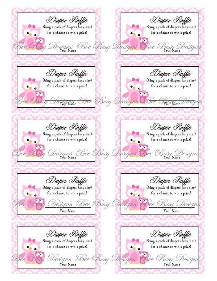 Free Printable Bridal Shower Raffle Tickets