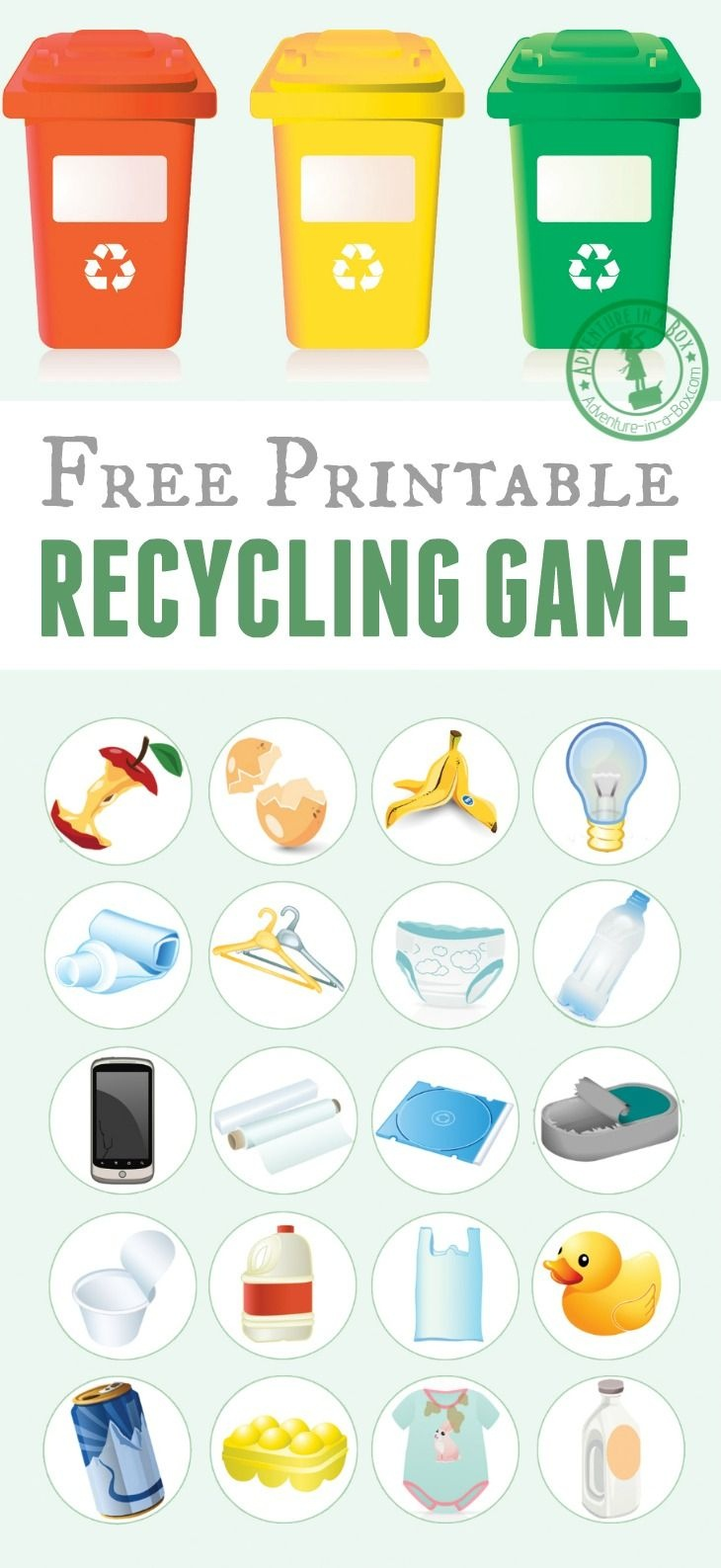 Printable Recycling Game | Free Printable Of The Day | Recycling - Free Printable Recycling Worksheets